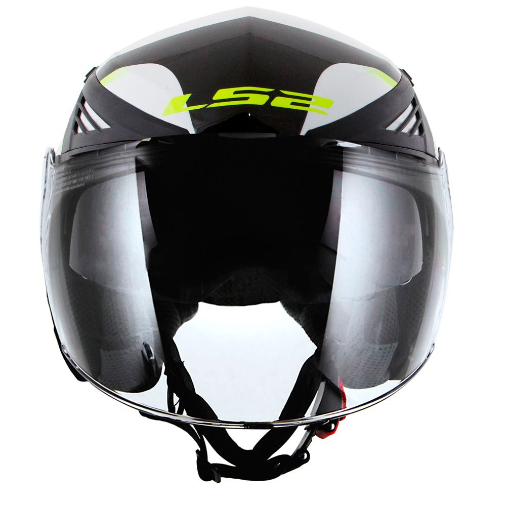 CAPACETE LS2 OF586 BISHOP TYRELL - BLACK/YELLOW  - Nova Centro Boutique Roupas para Motociclistas