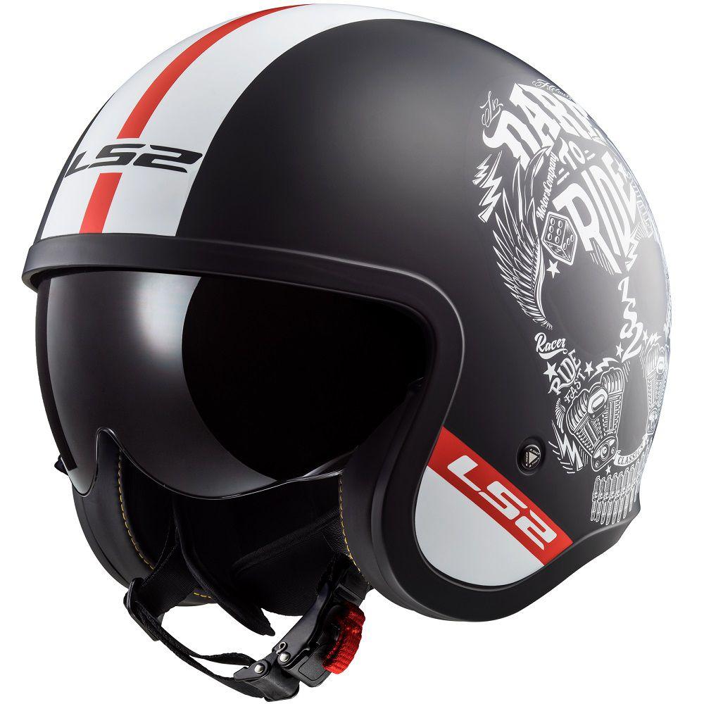 Capacete LS2 OF599 Spitfire (C/ VISEIRA SOLAR)  - Nova Centro Boutique Roupas para Motociclistas