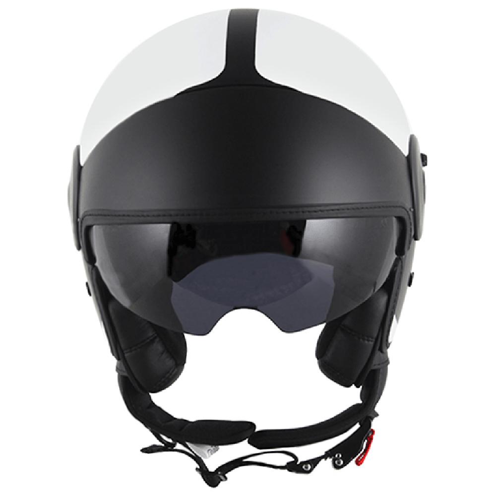 Capacete LS2 OF597 BRANCO COM PRETO (Of 597)  - Nova Centro Boutique Roupas para Motociclistas