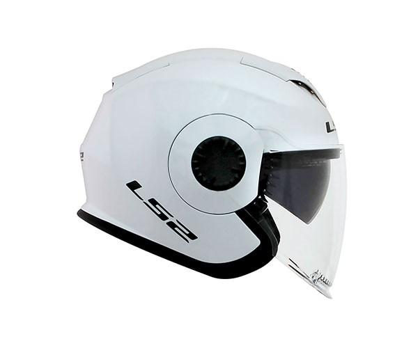 Capacete LS2 OF570 Verso Branco Aberto  - Nova Centro Boutique Roupas para Motociclistas