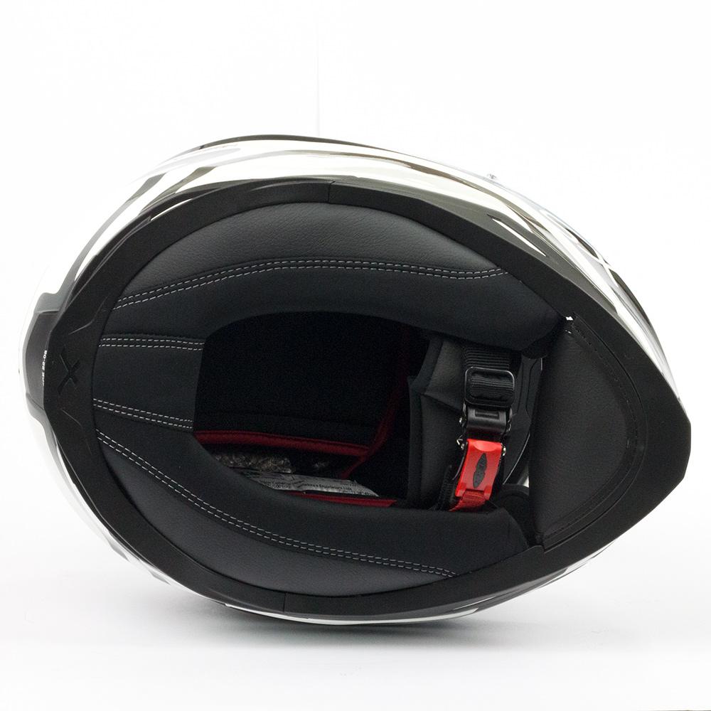Capacete Nexx SX100 Enigma Preto/Branco Fosco + Pinlock - LANÇAMENTO 2019 - Black Friday  - Nova Centro Boutique Roupas para Motociclistas