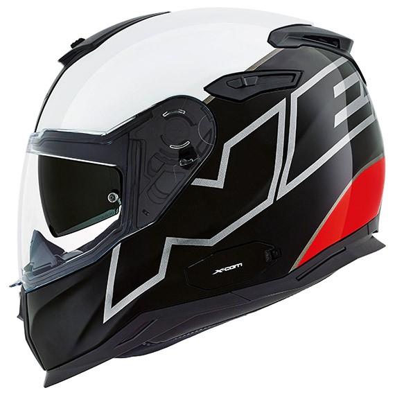 Capacete Nexx SX100 Orion Branco - Preto - vermelho + pinlock  - Nova Centro Boutique Roupas para Motociclistas