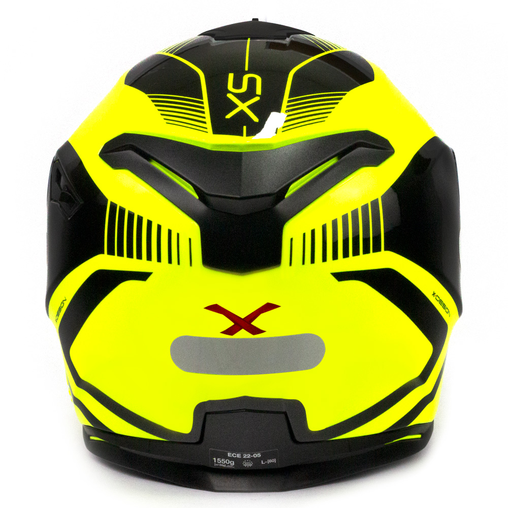 Capacete Nexx SX100 PopUp Amarelo/Preto + pinlock  - Nova Centro Boutique Roupas para Motociclistas