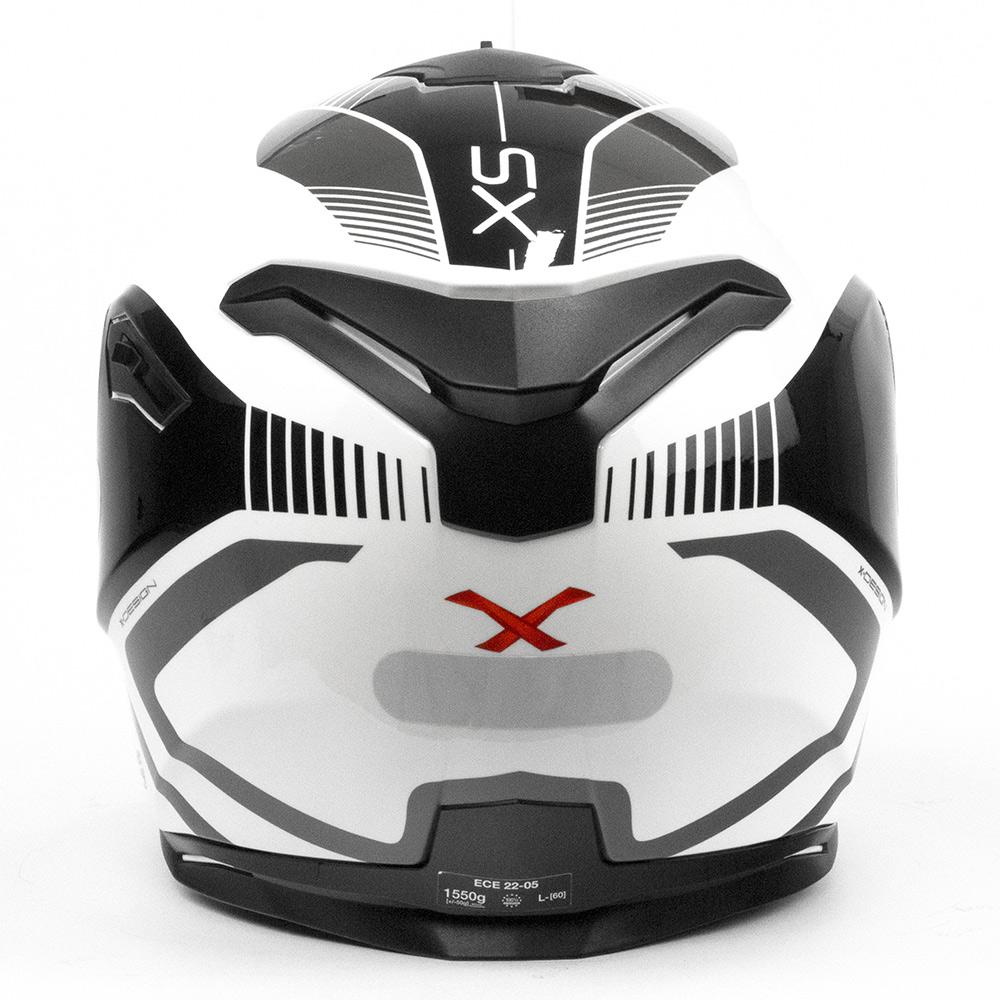 Capacete Nexx SX100 PopUp Preto/Branco + Pinlock  - Nova Centro Boutique Roupas para Motociclistas