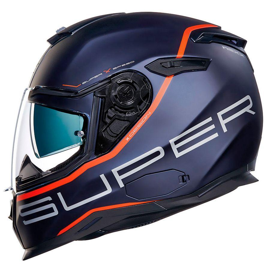 Capacete Nexx SX100 Super Speed Azul + Pinlock