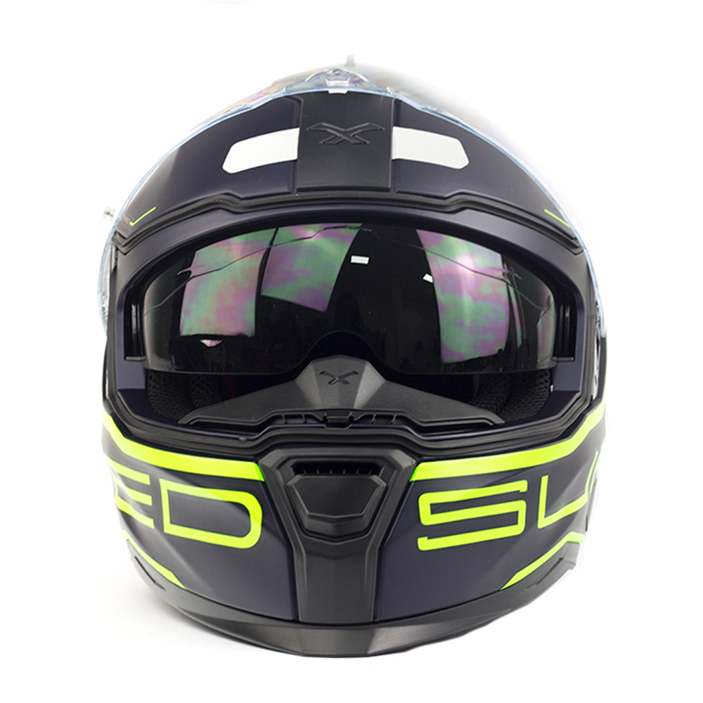 Capacete Nexx SX100 Super Speed Azul c/ Verde + Pinlock  - Nova Centro Boutique Roupas para Motociclistas