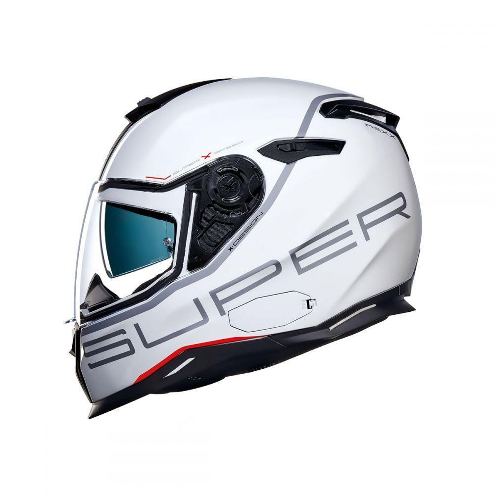 Capacete Nexx SX100 Super Speed Branco + pinlock  - Nova Centro Boutique Roupas para Motociclistas