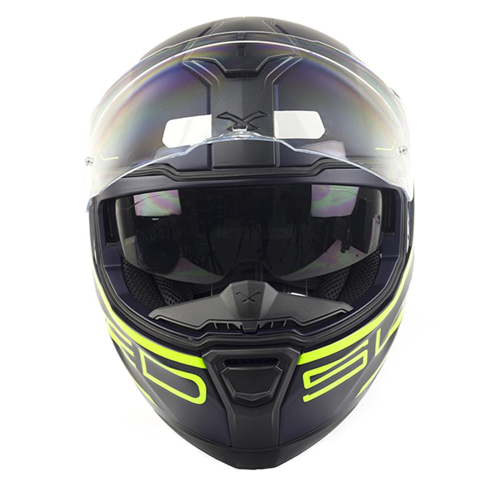 Capacete Nexx SX100 Superspeed Azul/Amarelo Fosco + Pinlock  - Nova Centro Boutique Roupas para Motociclistas