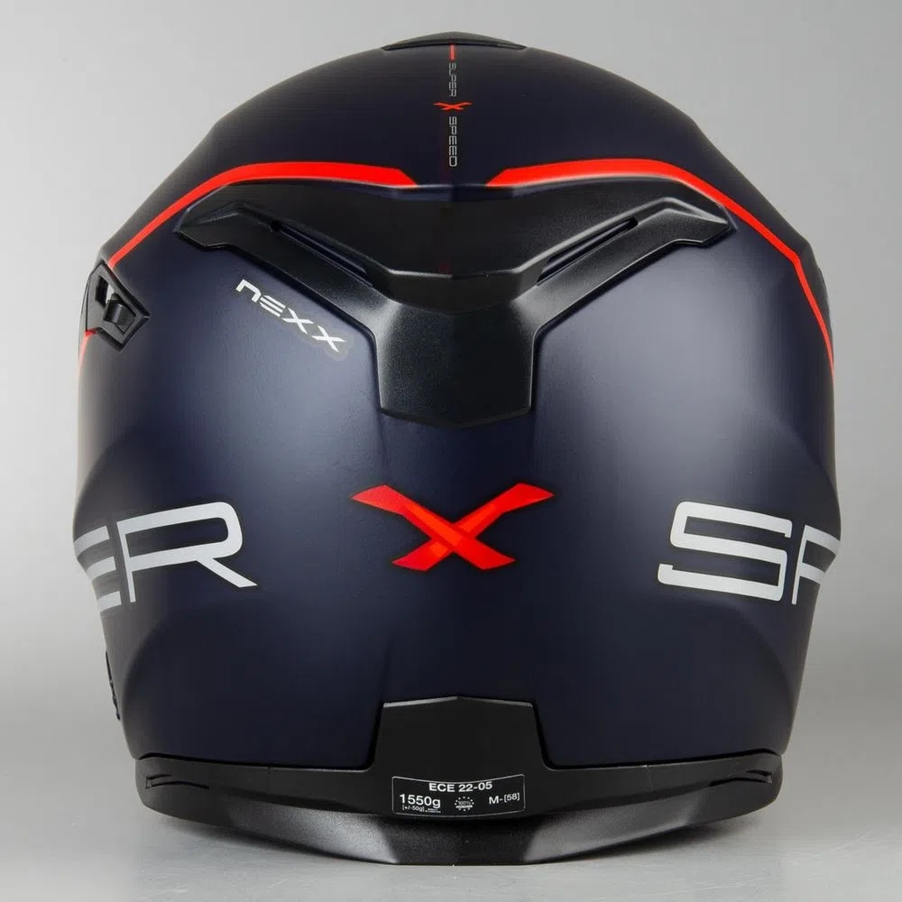 Capacete Nexx SX100 Superspeed Azul/Vermelho  - Nova Centro Boutique Roupas para Motociclistas