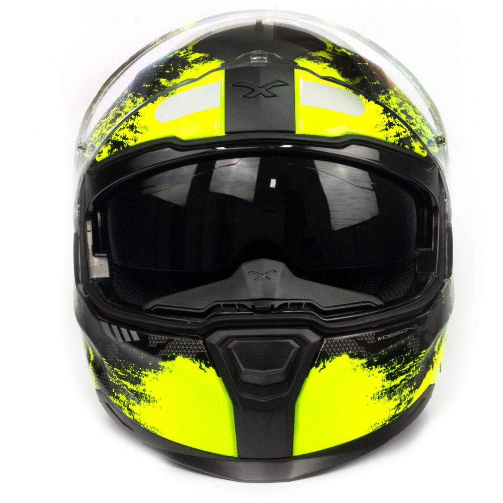 Capacete Nexx SX100 Toxic Amarelo/Preto + Pinlock  - Nova Centro Boutique Roupas para Motociclistas