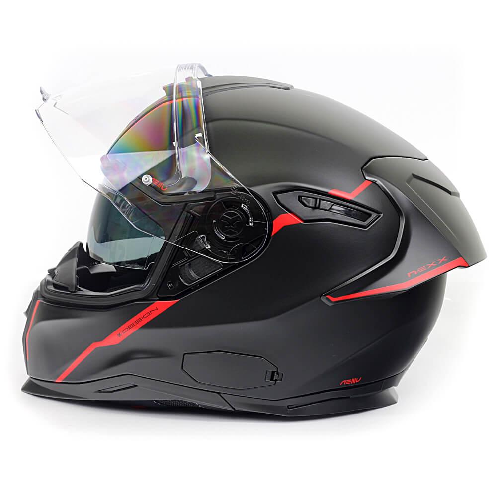 Capacete Nexx SX100R Shortcut Preto c/ Vermelho Fosco + Pinlock - LANÇAMENTO 2020  - Nova Centro Boutique Roupas para Motociclistas