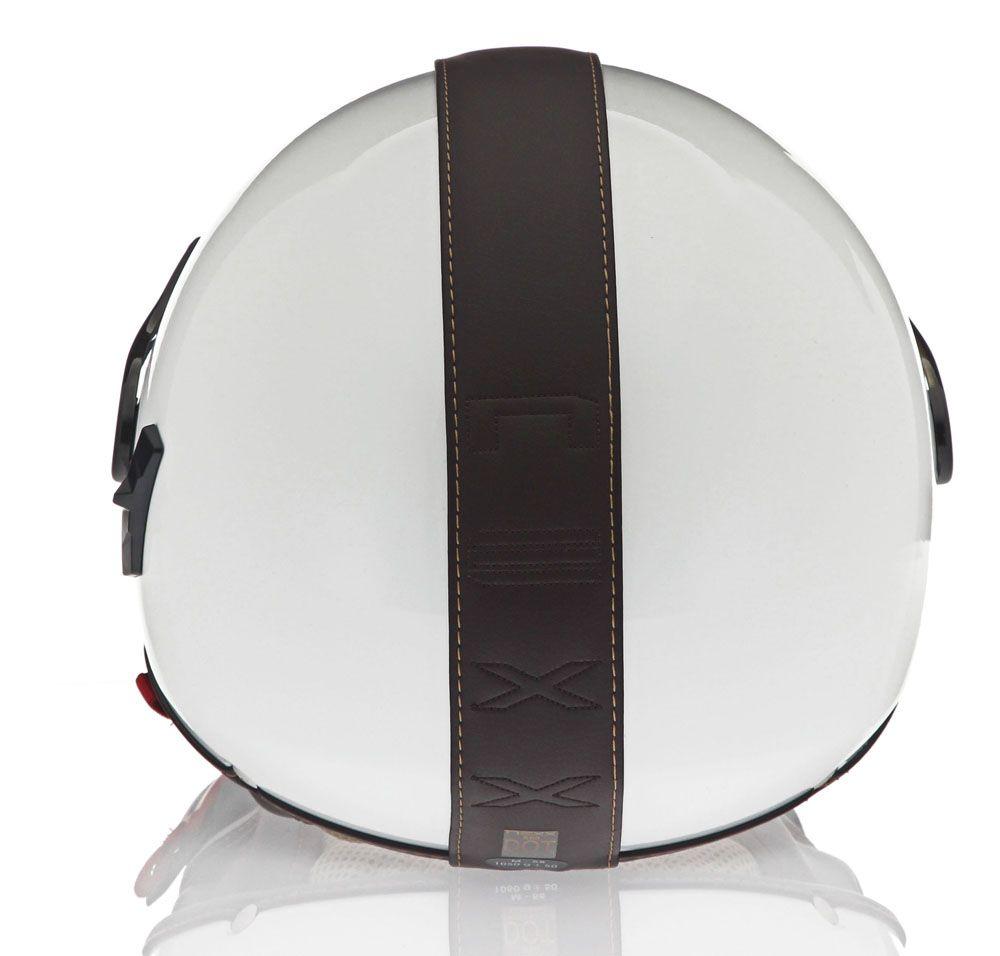 Capacete Nexx X60 Branco/Preto  - Nova Centro Boutique Roupas para Motociclistas