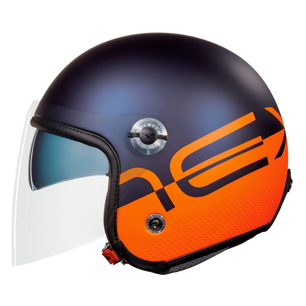 Capacete Nexx X70 City Azul Laranja Fosco - SUPEROFERTA!   - Nova Centro Boutique Roupas para Motociclistas