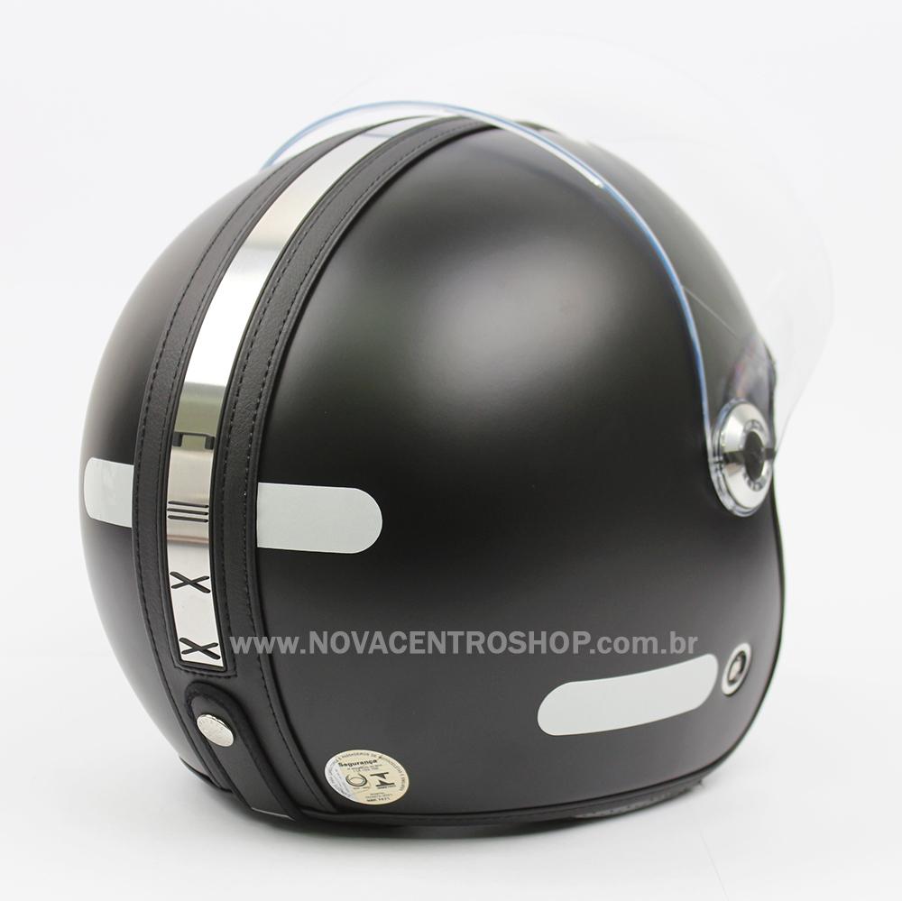 Capacete Nexx X70 Groovy Preto Fosco - Tri-composto - Aberto  - Nova Centro Boutique Roupas para Motociclistas