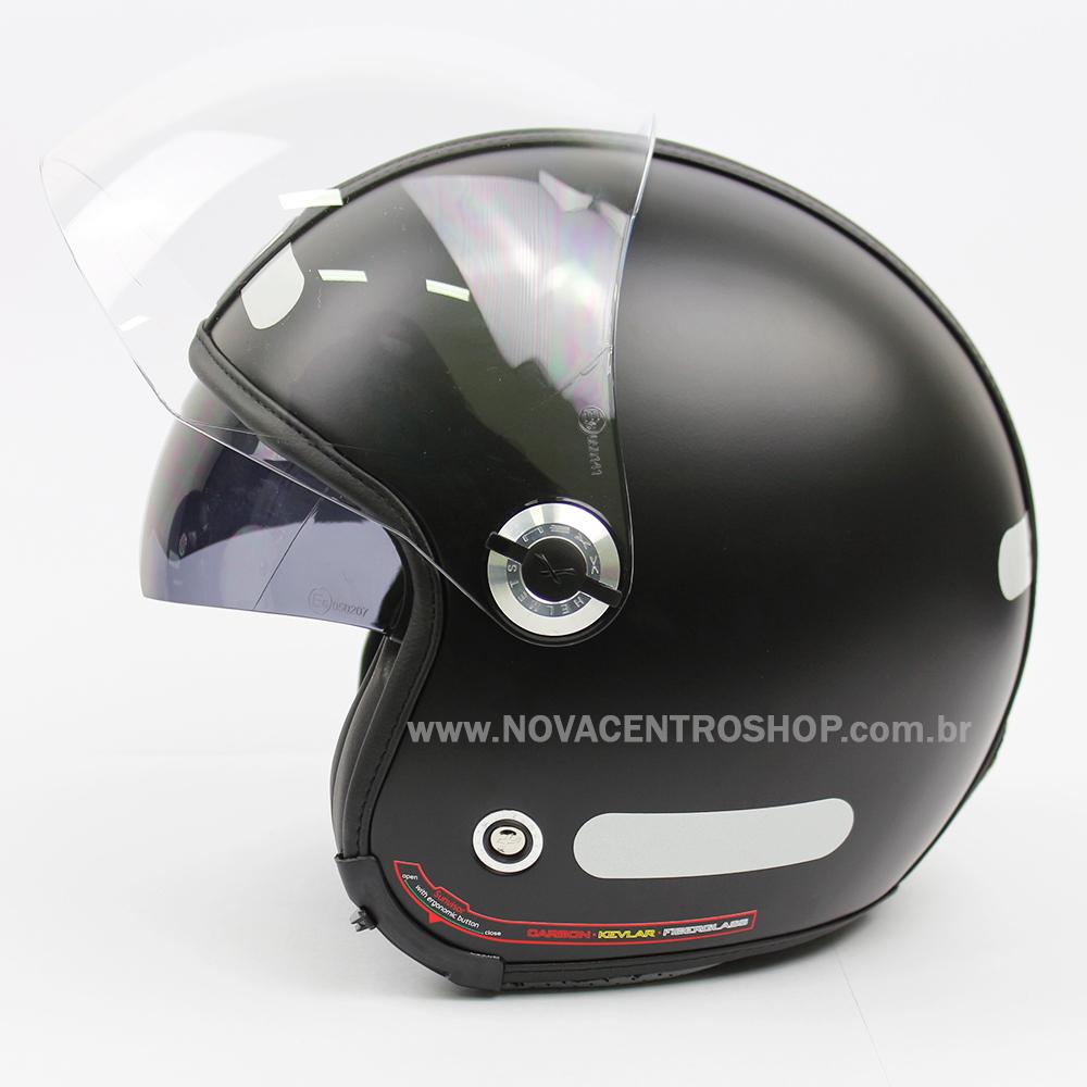 Capacete Nexx X70 Groovy Preto Fosco - Tri-composto - Aberto