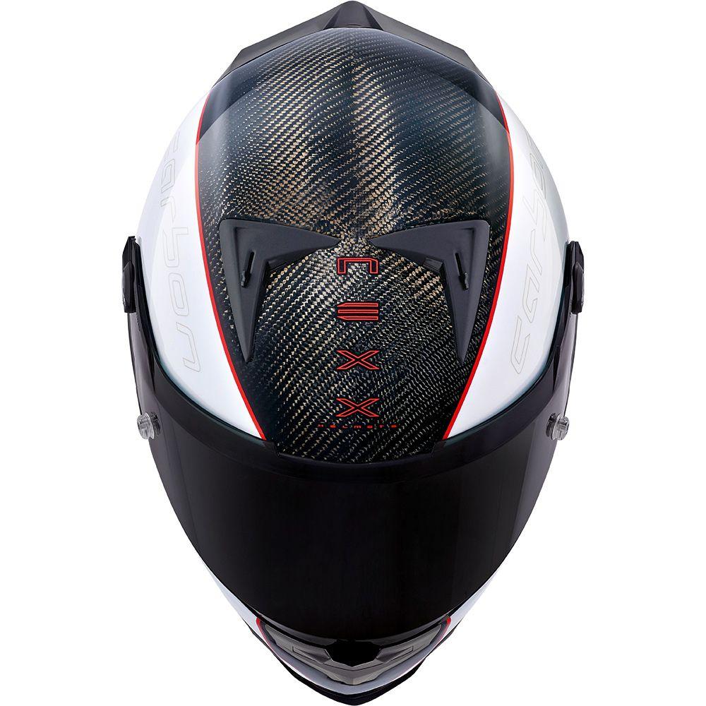 Capacete Nexx XR2 Carbon Branco  - Nova Centro Boutique Roupas para Motociclistas