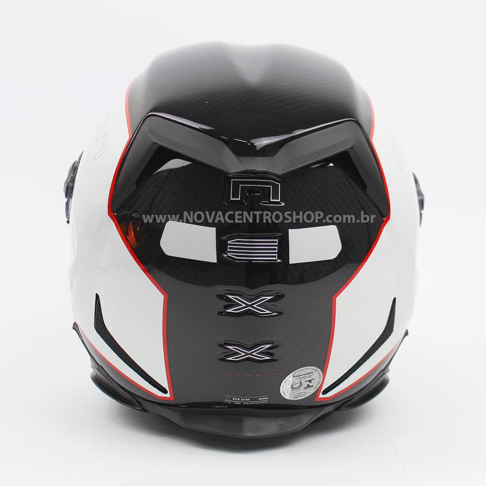 Capacete Nexx XR2 Carbon Branco - Brinde Viseira fumê + Pinlock Anti-Embaçante  - Nova Centro Boutique Roupas para Motociclistas
