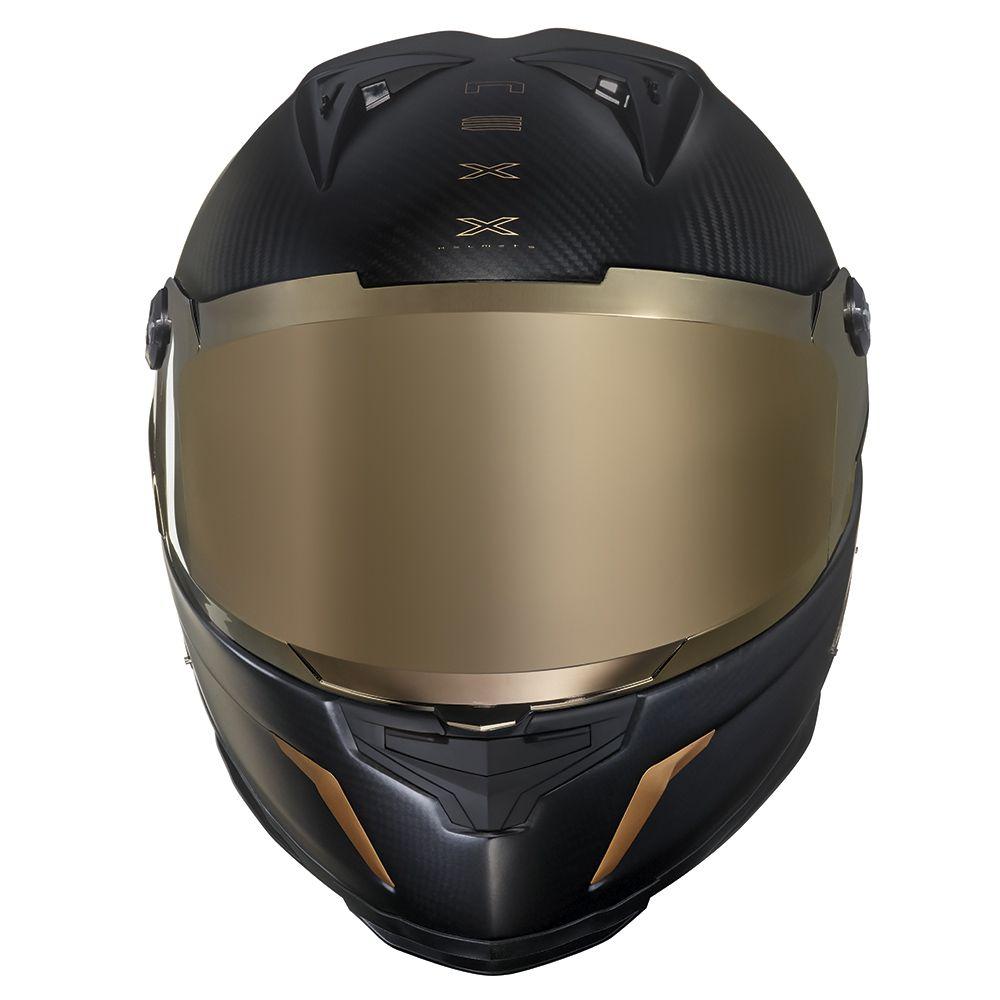 Capacete Nexx XR2 Carbon Golden Edition Preto/Dourado - brinde Viseira espelhada e pinlock  - Nova Centro Boutique Roupas para Motociclistas