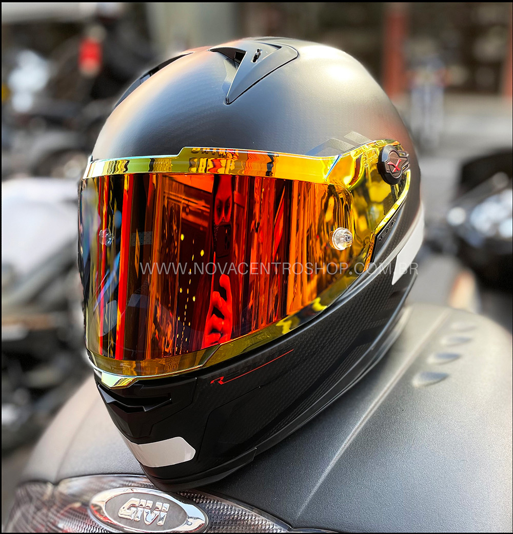 Capacete Nexx XR2 Carbon Redline Preto/Vermelho - LANÇAMENTO  - Nova Centro Boutique Roupas para Motociclistas