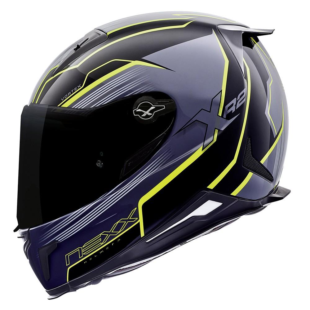 Capacete Nexx XR2 Vortex Titanium Neon - Só 60 Tri-Composto  - Nova Centro Boutique Roupas para Motociclistas