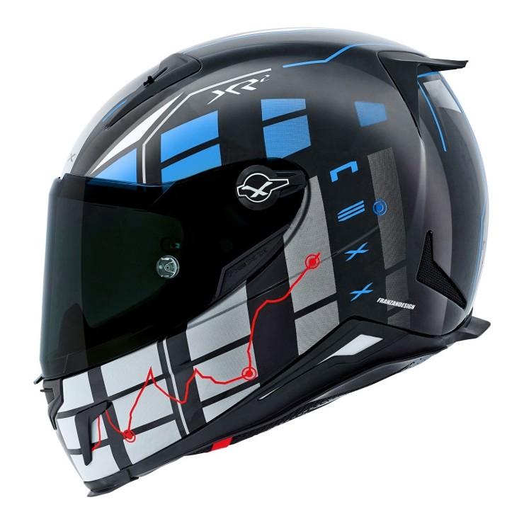 Capacete Nexx XR-2 Virus Blue  - Nova Centro Boutique Roupas para Motociclistas