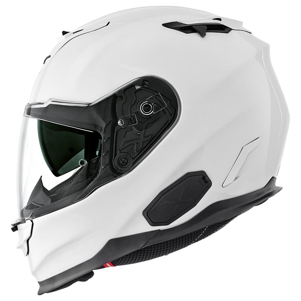 Capacete Nexx XT1 Branco Brilho Tri-Composto com Viseira Solar