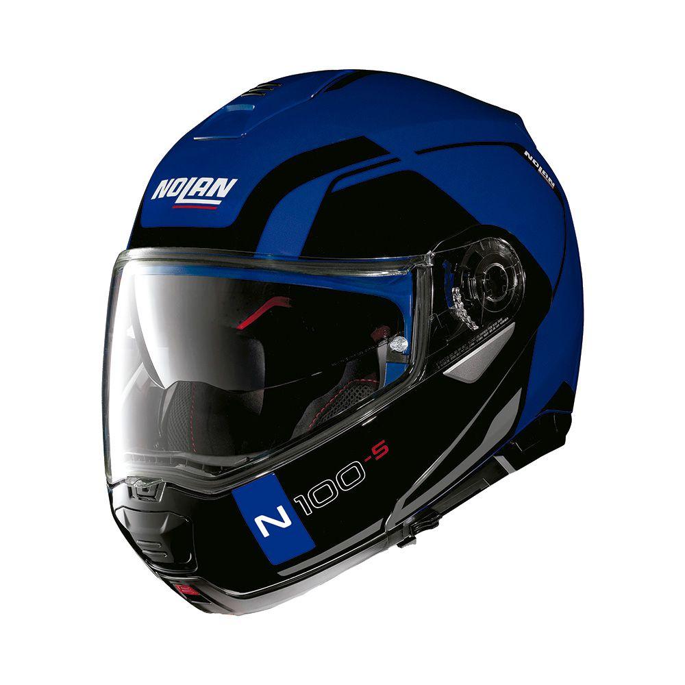 Capacete Nolan N100-5 Consistency - Azul - c/ Viseira Interna  - Nova Centro Boutique Roupas para Motociclistas