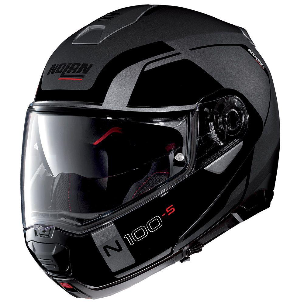 Capacete Nolan N100-5 Consistency - Cinza - c/ Viseira Interna  - Nova Centro Boutique Roupas para Motociclistas