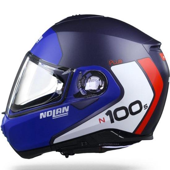 Capacete Nolan N100-5 Plus Distinctive - Azul Imperial (29) - c/ Viseira Interna