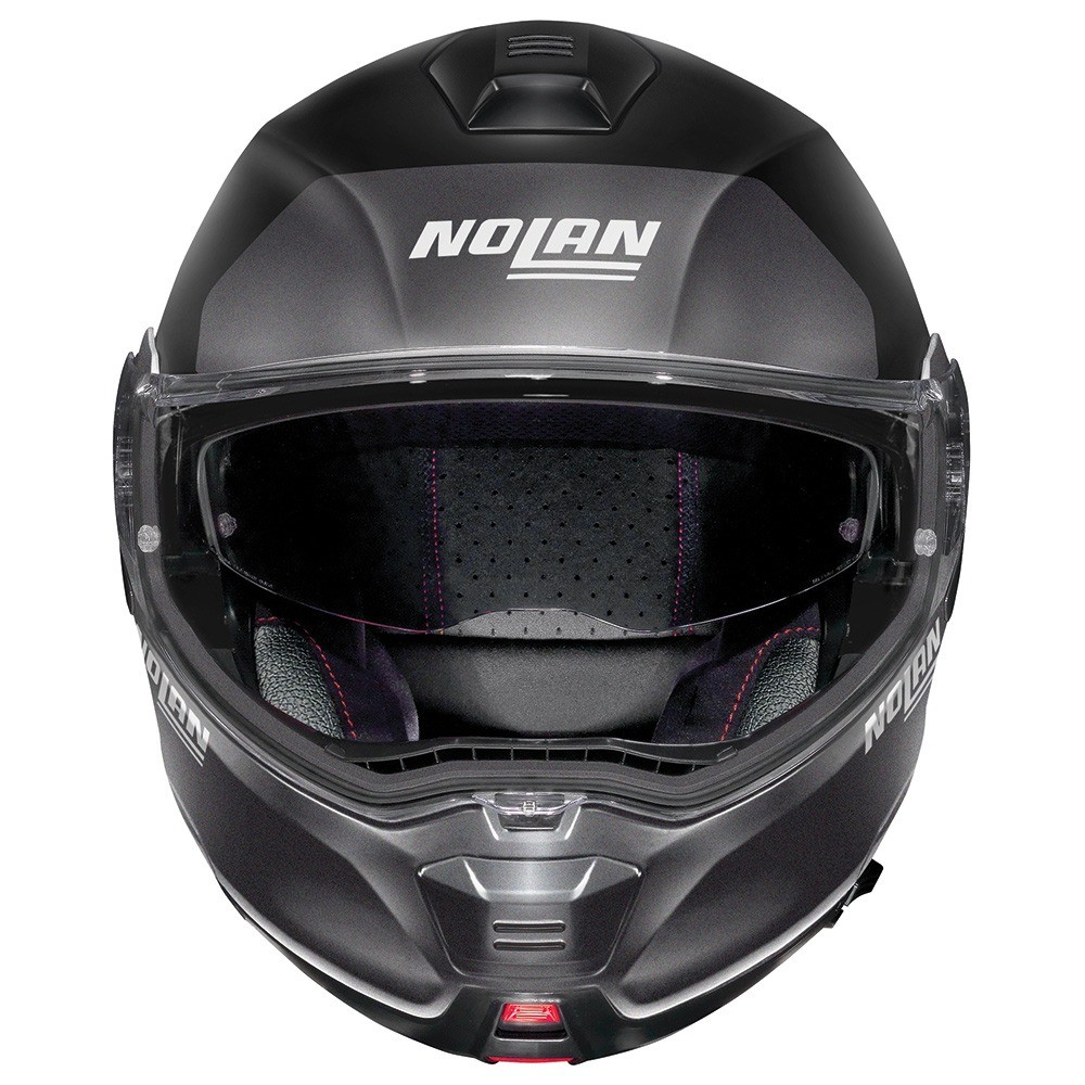 Capacete Nolan N100-5 Plus Distinctive - Preto/Cinza - c/ Viseira Interna - Escamoteável  - Nova Centro Boutique Roupas para Motociclistas