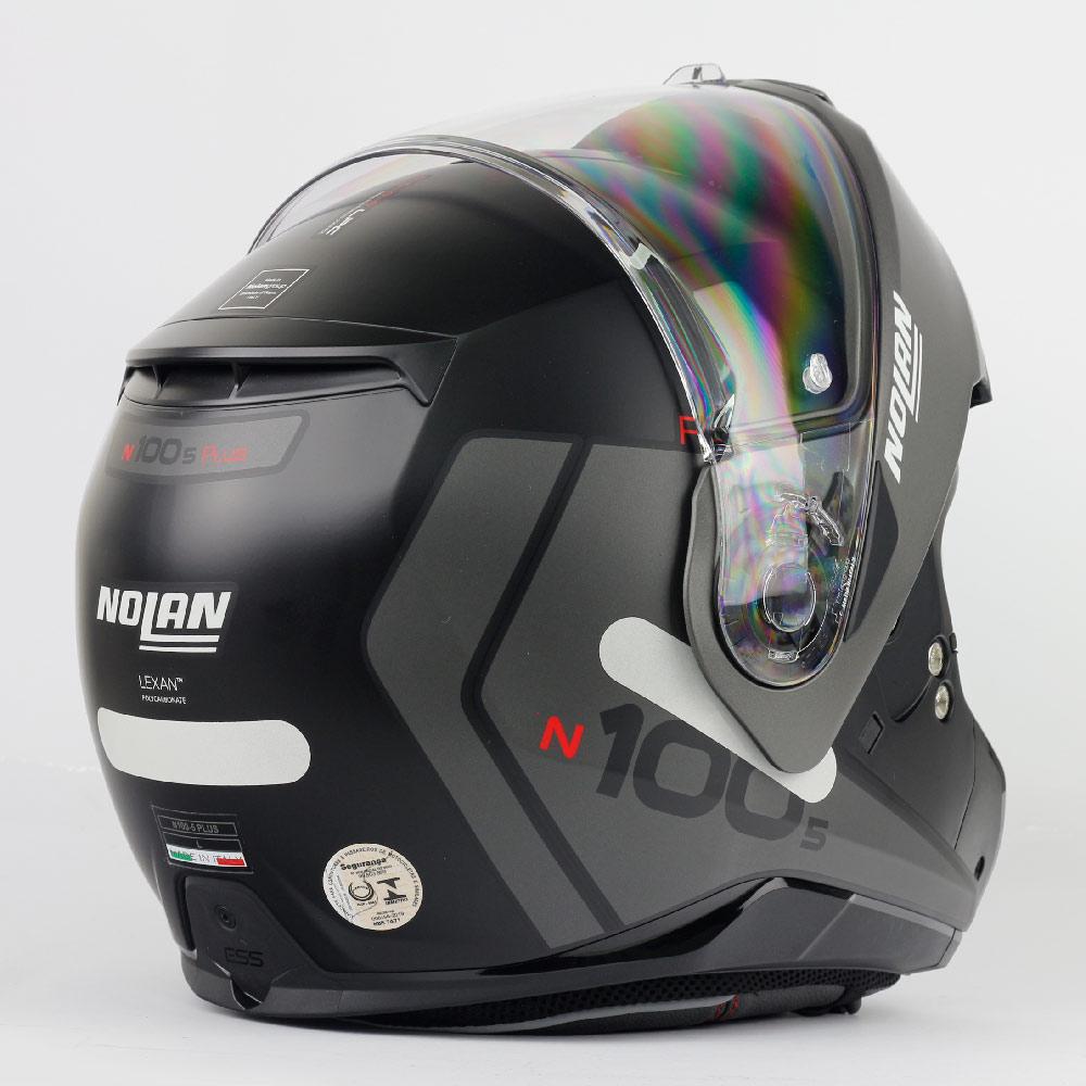 Capacete Nolan N100-5 Plus Distinctive - Preto/Cinza (21) - c/ Viseira Interna - Escamoteável  - Nova Centro Boutique Roupas para Motociclistas