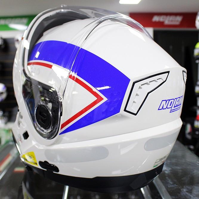 Capacete Nolan N104 Evo Scovery N-Com Azul/Branco Escamoteável  - Nova Centro Boutique Roupas para Motociclistas