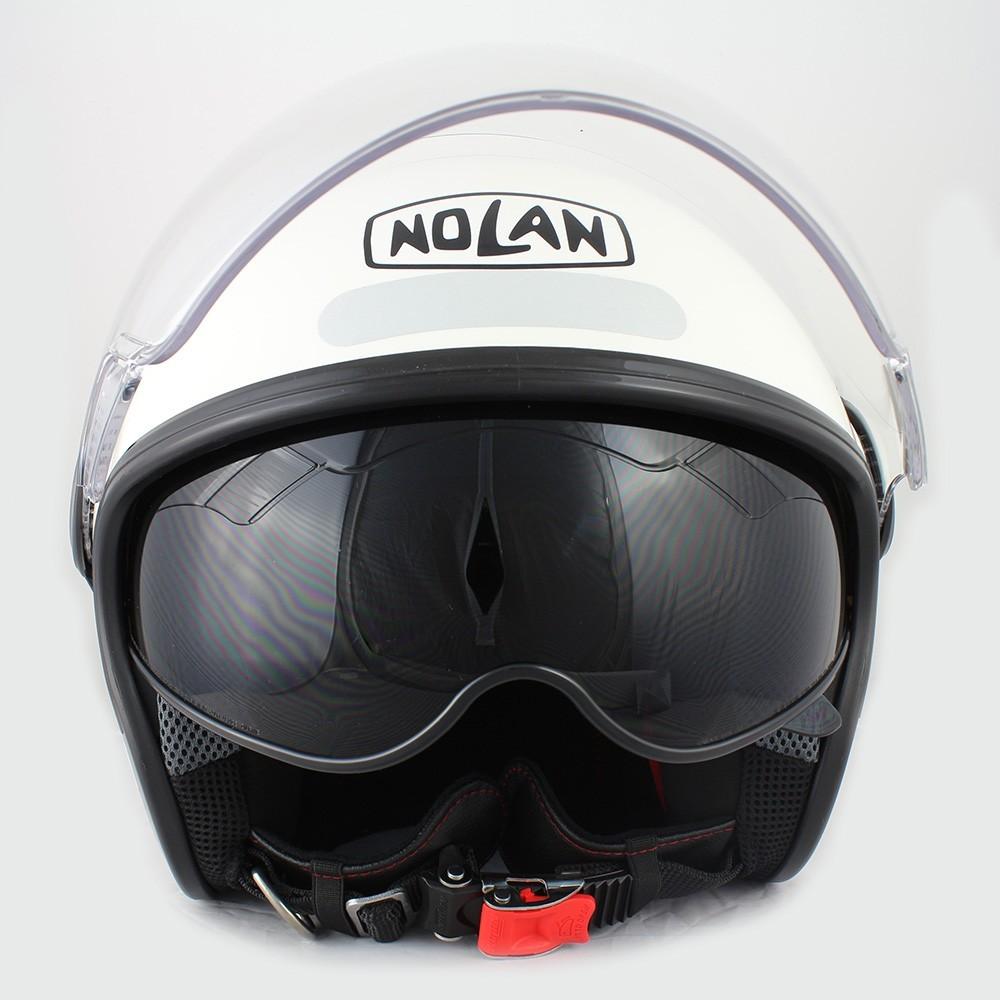 Capacete Nolan N21 Branco C/ Viseira Solar Interna - SUPEROFERTA!   - Nova Centro Boutique Roupas para Motociclistas