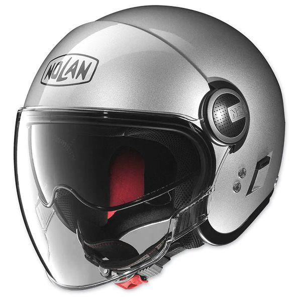 Capacete Nolan N21 Cinza Cromado C/ Viseira Solar Interna - SUPEROFERTA!   - Nova Centro Boutique Roupas para Motociclistas
