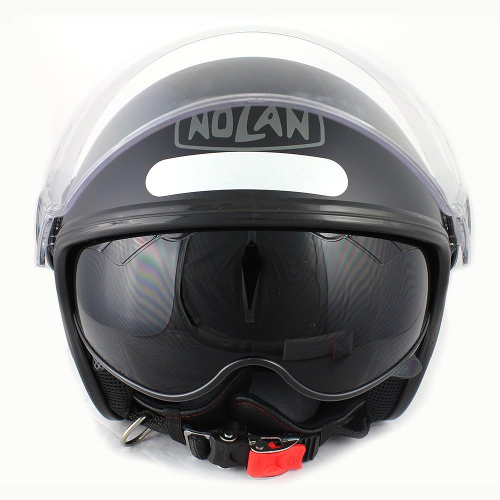 Capacete Nolan N21 Preto Fosco C/ Viseira Solar Interna Aberto - SUPEROFERTA!   - Nova Centro Boutique Roupas para Motociclistas