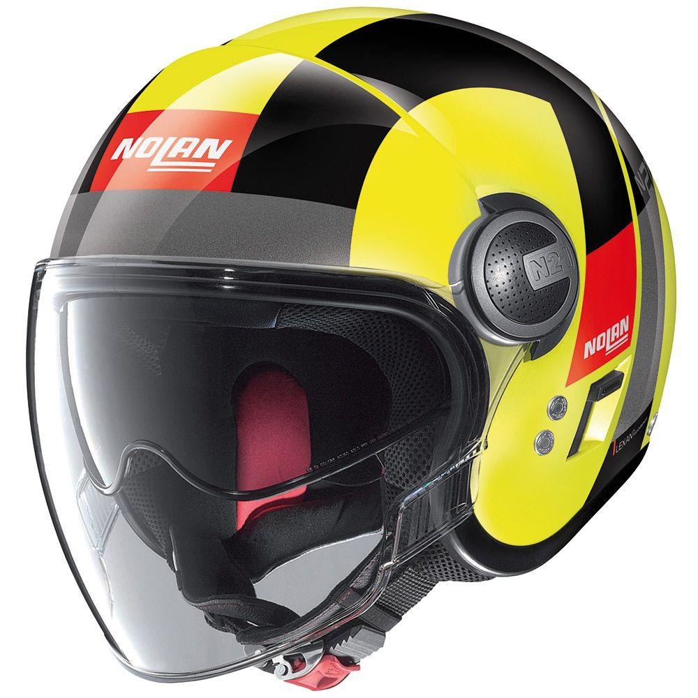 CAPACETE NOLAN N21 SPHEROID AMARELO (47) Aberto - SUPEROFERTA!   - Nova Centro Boutique Roupas para Motociclistas