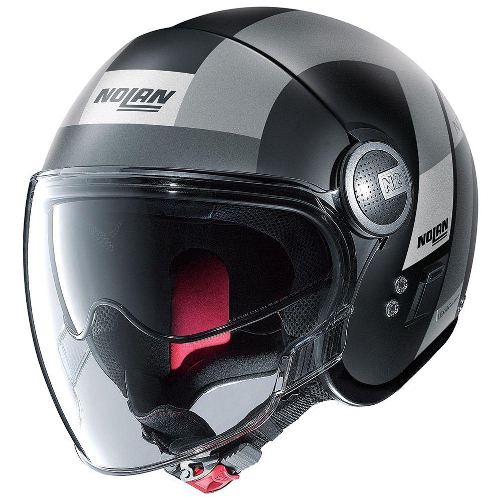 CAPACETE NOLAN N21 SPHEROID CINZA FOSCO (48) Aberto - SUPEROFERTA!   - Nova Centro Boutique Roupas para Motociclistas