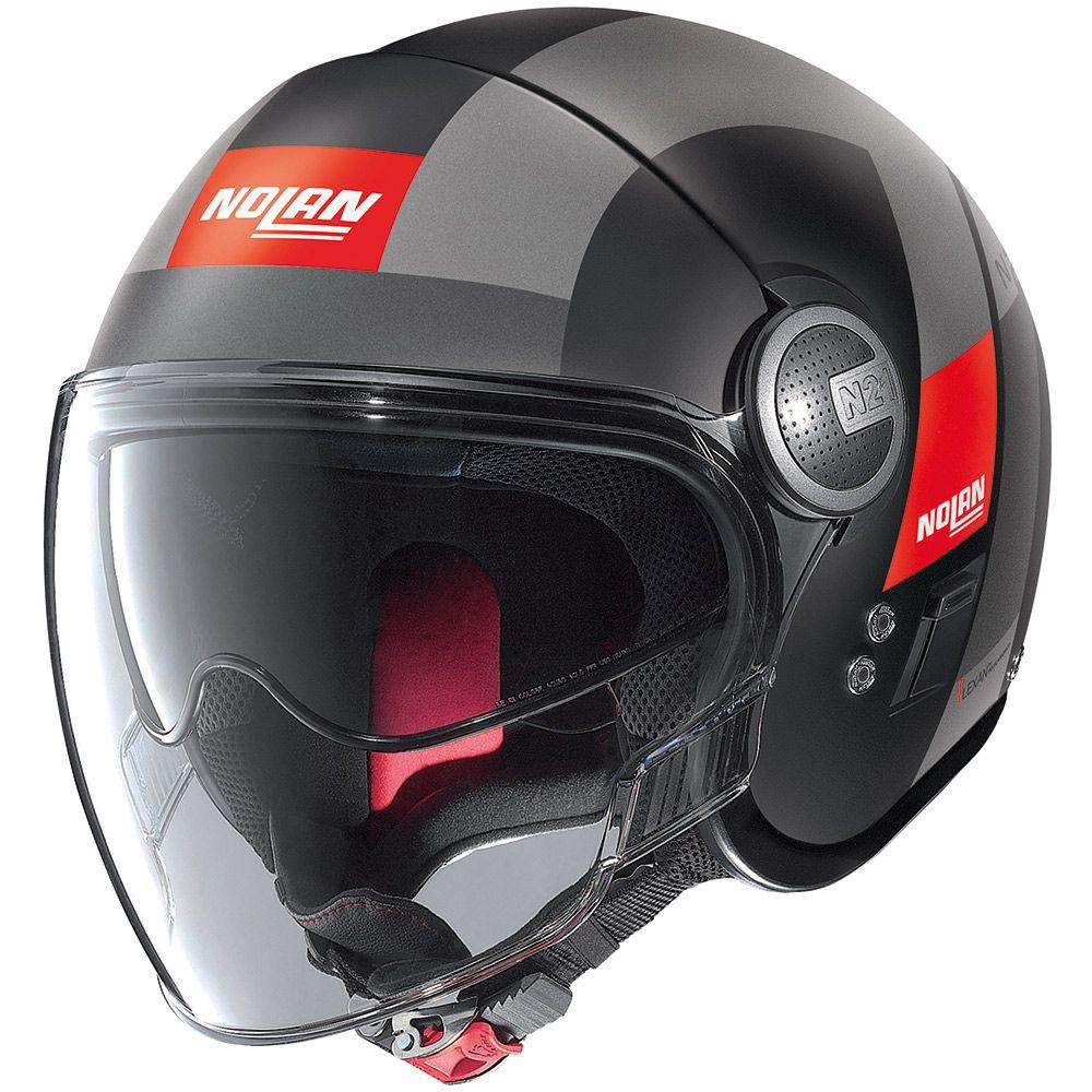 CAPACETE NOLAN N21 SPHEROID VERMELHO FOSCO (51) Aberto - SUPEROFERTA!   - Nova Centro Boutique Roupas para Motociclistas