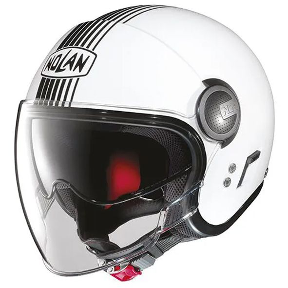 Capacete Nolan N21 Vivre Branco Metalico C/ Viseira Solar Interna- SUPEROFERTA!   - Nova Centro Boutique Roupas para Motociclistas