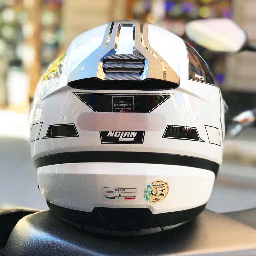 Capacete Nolan N40-5 Beltway Branco (21)  - Nova Centro Boutique Roupas para Motociclistas