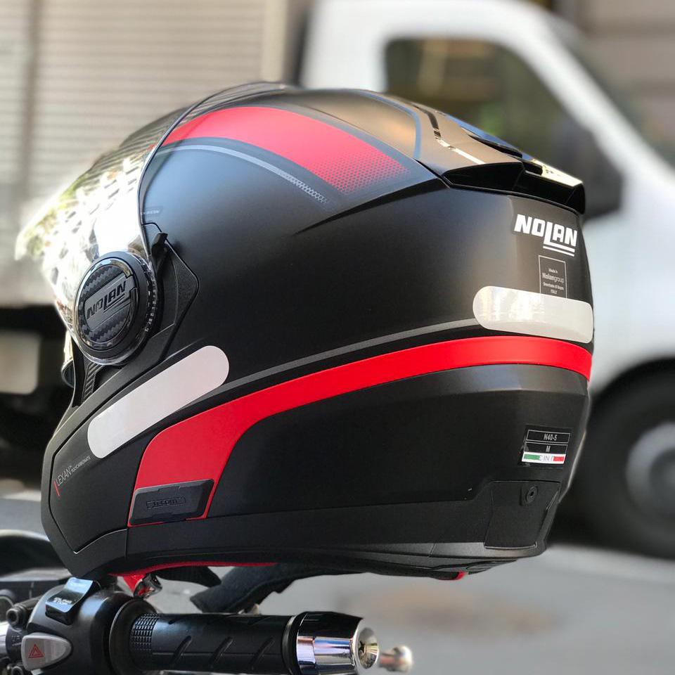 Capacete Nolan N40-5 Resolute Preto/Vermelho (17)  - Nova Centro Boutique Roupas para Motociclistas