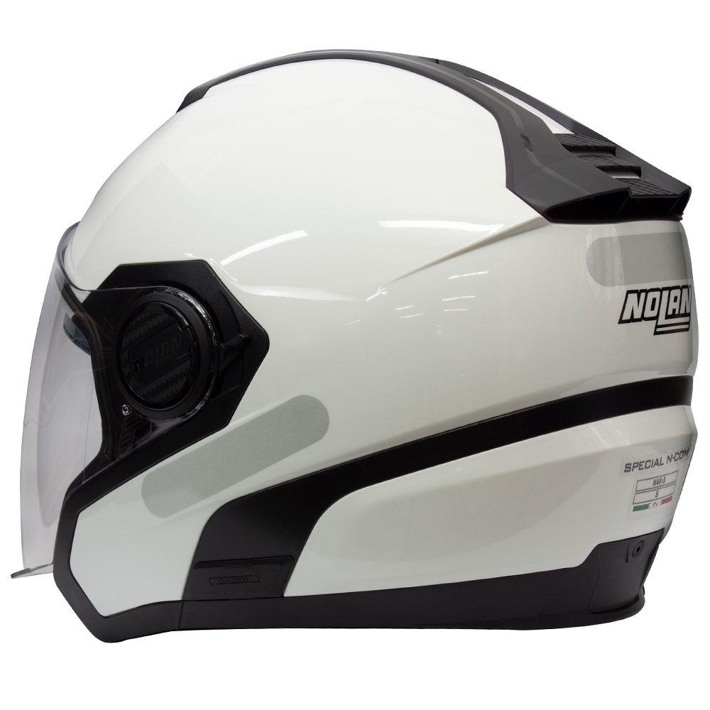 Capacete Nolan N40 Special - Branco C/ Viseira Solar Interna  - Nova Centro Boutique Roupas para Motociclistas