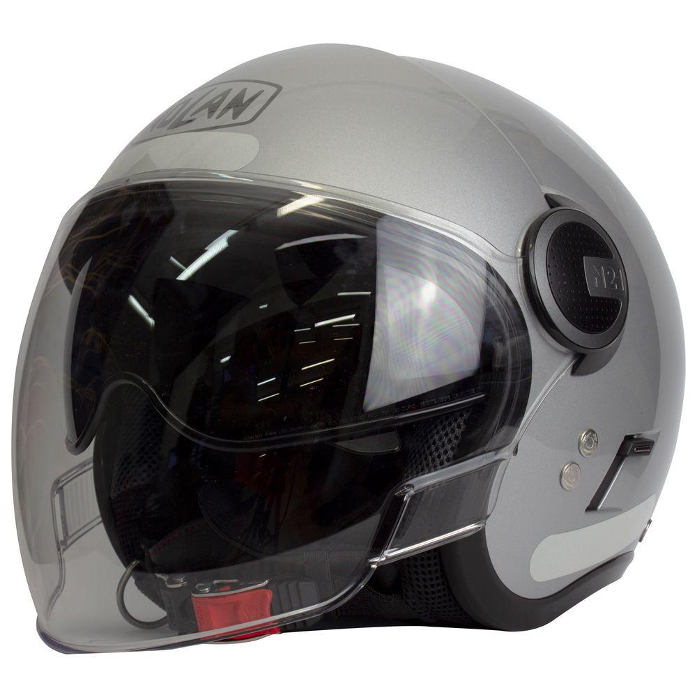 Capacete Nolan N40 Special - Prata C/ Viseira Solar Interna  - Nova Centro Boutique Roupas para Motociclistas