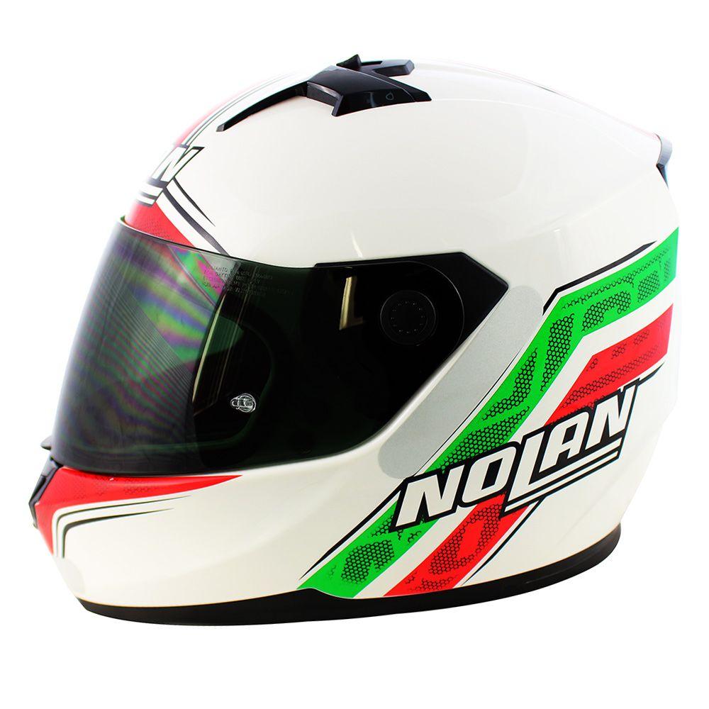 0 Capacete Nolan N64 Italy Metal White (GANHE BALACLAVA NOLAN)