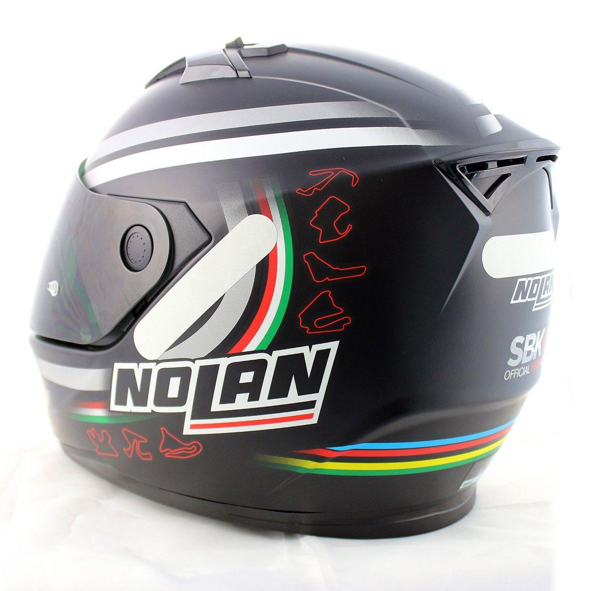 0 Capacete Nolan N64 Superbike Flat Black  (GANHE BALACLAVA)  - Nova Centro Boutique Roupas para Motociclistas
