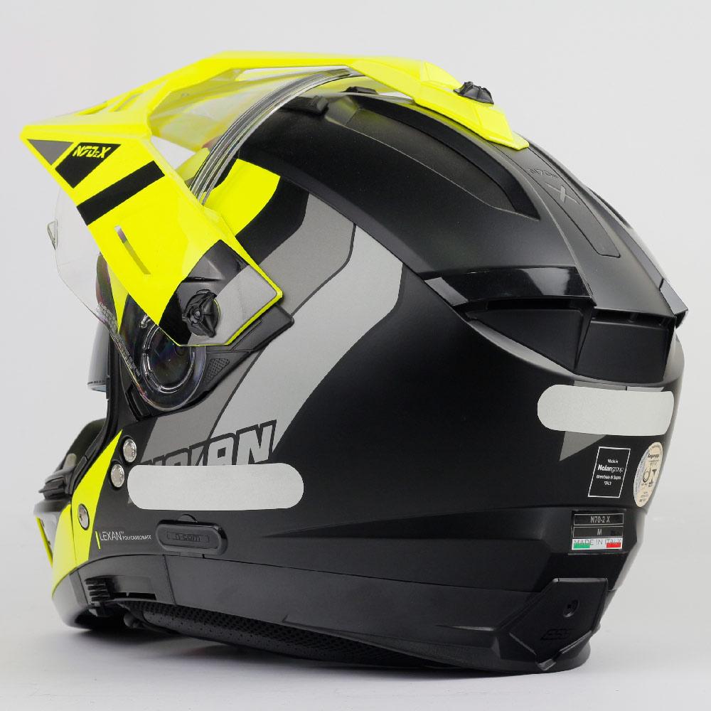Capacete Nolan N70-2X Decurio Cinza/Amarelo (30) - Remove queixo  - Nova Centro Boutique Roupas para Motociclistas