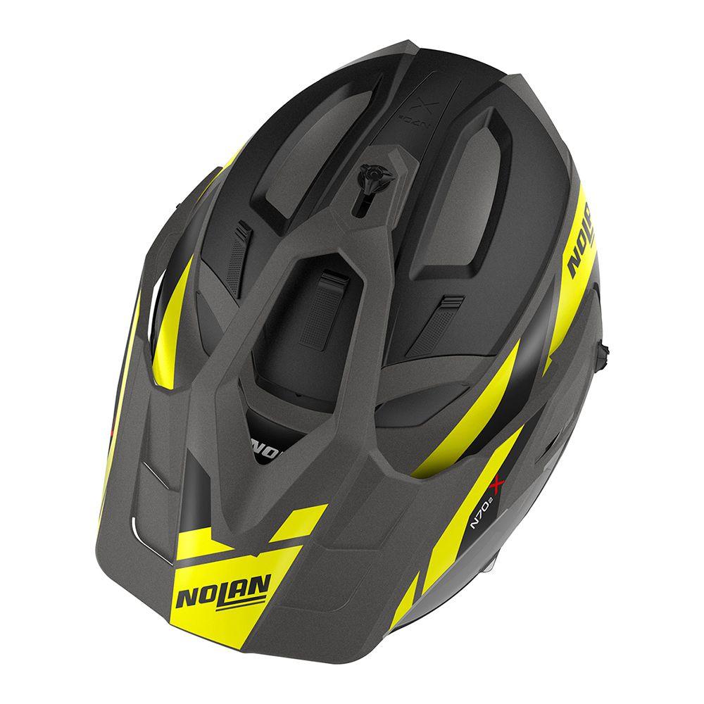 Capacete Nolan N70 2x - Grandes Alpes - Cinza Amarelo Fosco  - Nova Centro Boutique Roupas para Motociclistas