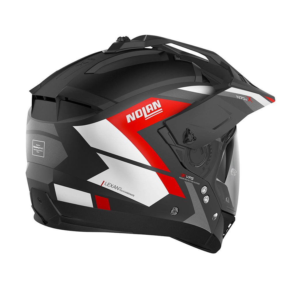 Capacete Nolan N70 2x - Grandes Alpes - Preto Vermelho Fosco  - Nova Centro Boutique Roupas para Motociclistas