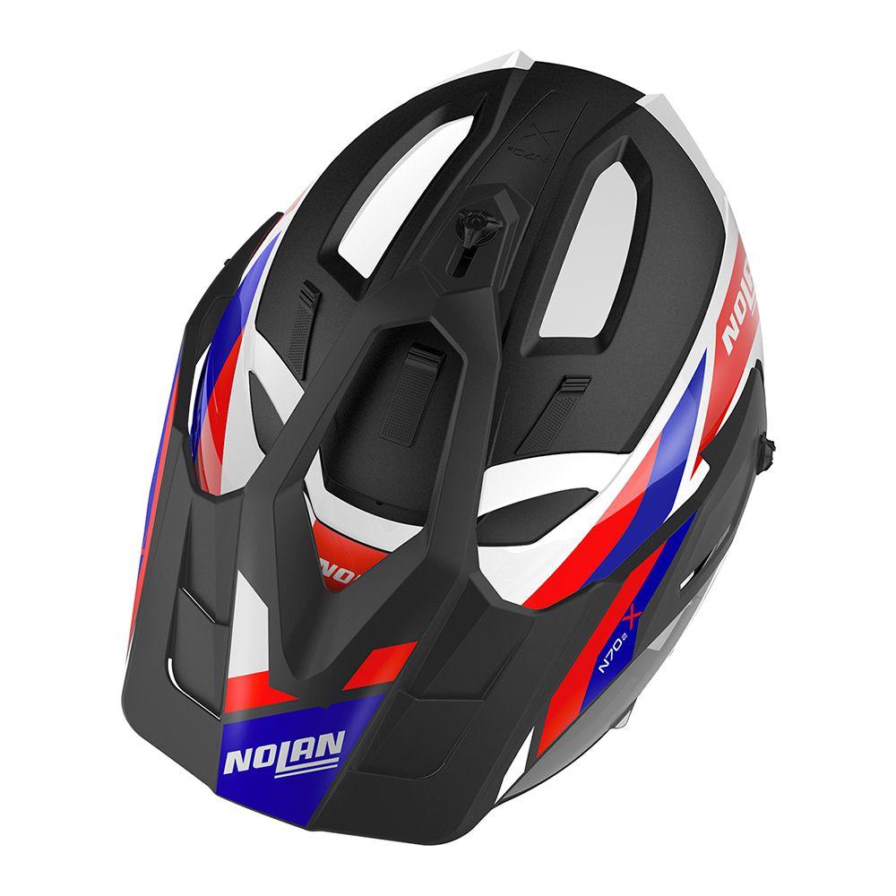 Capacete Nolan N70 2x - Grandes Alpes - Tricolor Fosco  - Nova Centro Boutique Roupas para Motociclistas
