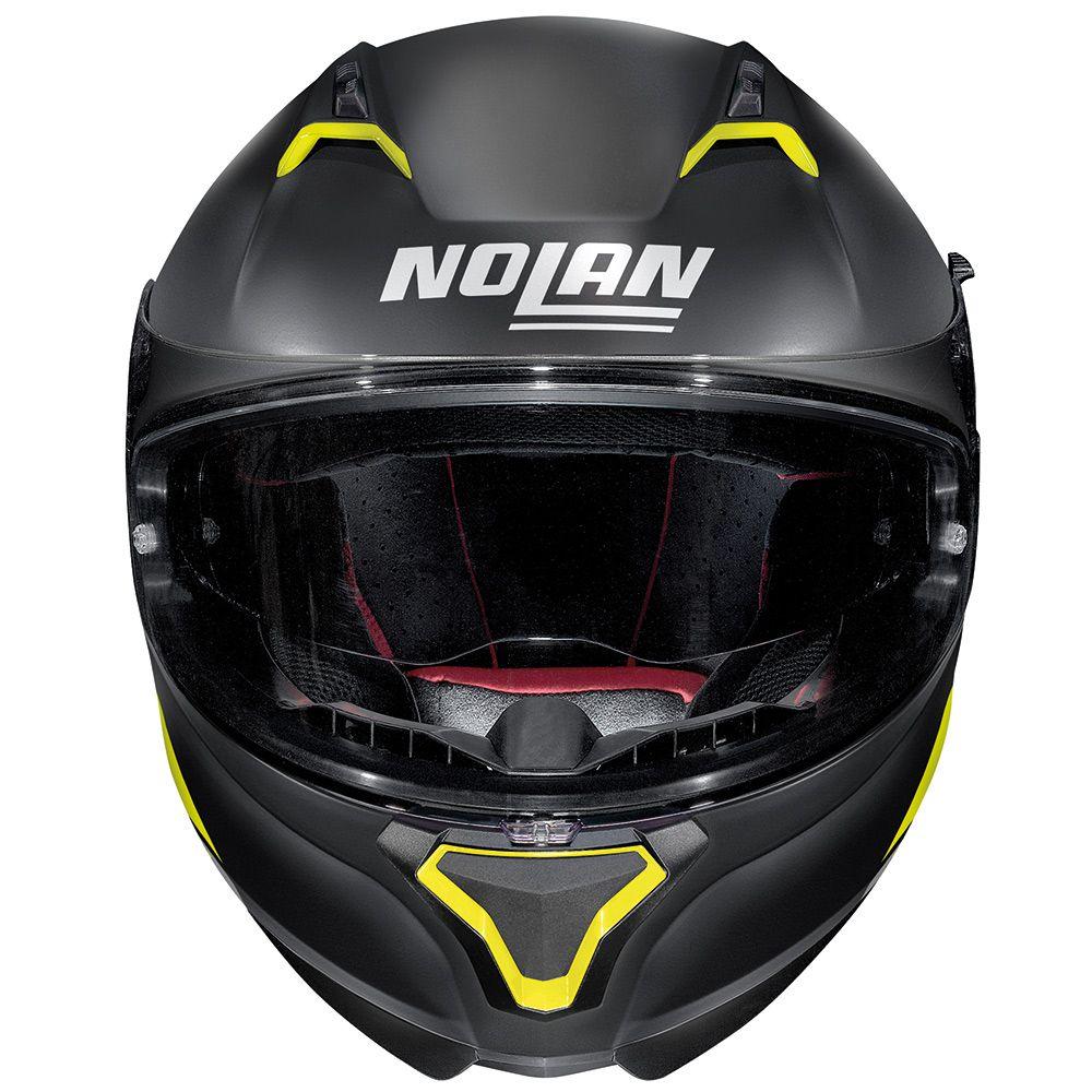 CAPACETE NOLAN N87 EMBLEMA AMARELO FOSCO (72) - LANÇAMENTO  - Nova Centro Boutique Roupas para Motociclistas